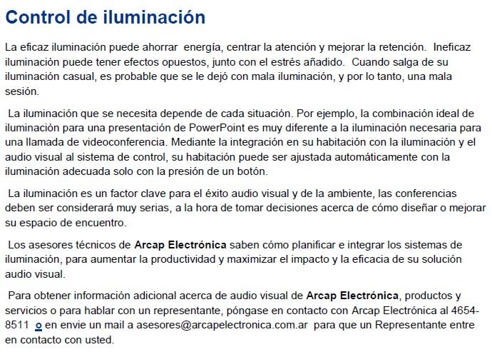 Corporaci n oficina for Control de iluminacion domotica